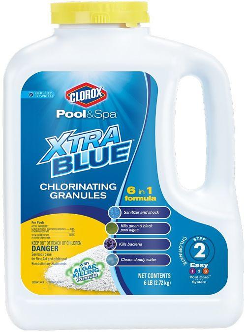 gránulos de cloro Xtra Blue de Clorox Pool&Spa